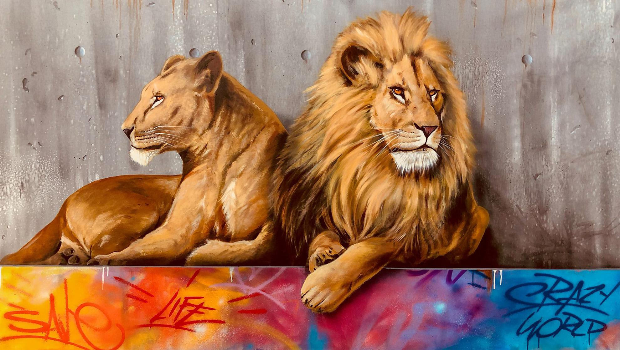 dave baranes artiste peintre peintre mural animalier marvel dc comics h bra que art fresque. Black Bedroom Furniture Sets. Home Design Ideas