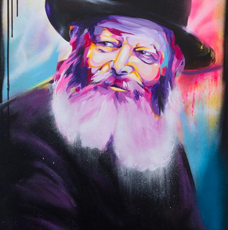 Rabbi de loubavitch colorful