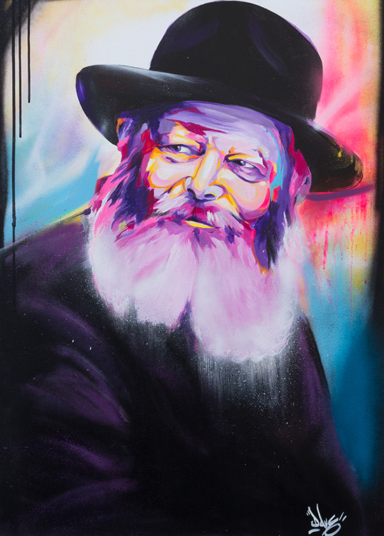Menachem Mendel Schneerson rabbi loubavitch colors